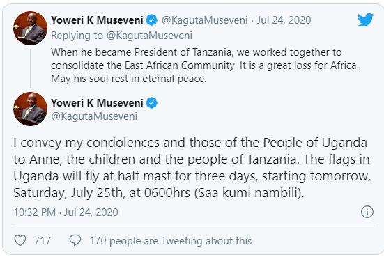 Yoweri Museven Tweets