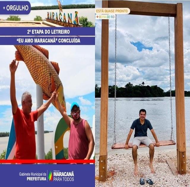 Escolhidas as duas melhores obras de Prefeituras do Pará: Um letreiro e um balanço