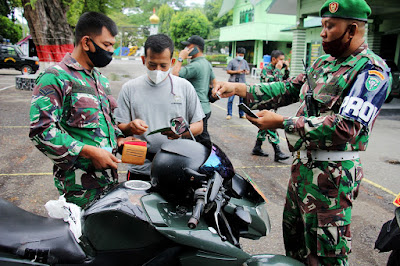 Kodim 0101/Aceh Besar Gelar Sidak Pemeriksaan Randis