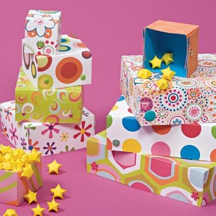Paper Boxes and Stars