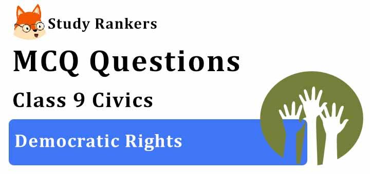 MCQ Questions for Class 9 Civics: Chapter 5 Democratic Rights