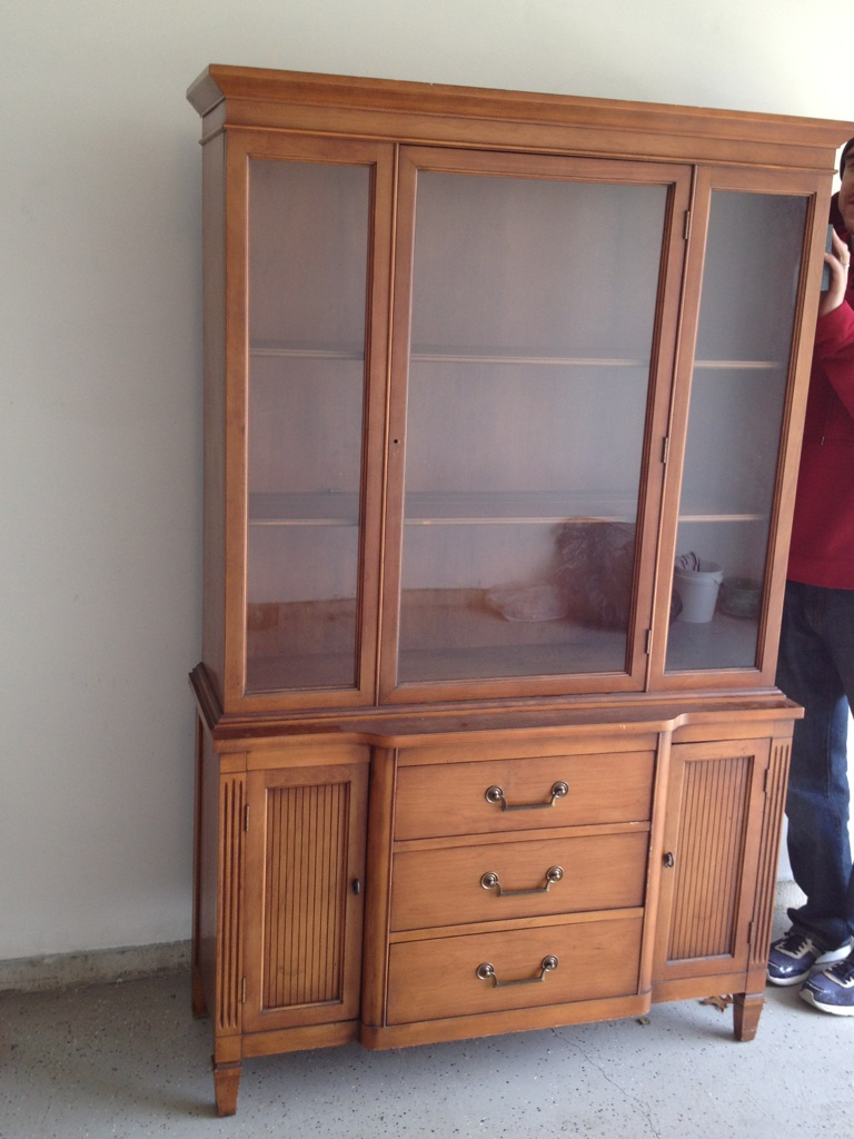 How To Spray Paint A China Cabinet