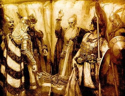 El khan Kubrat y sus hijos Bulgaria