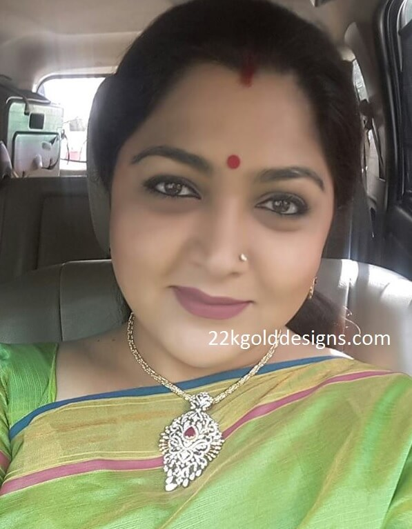 Kushboo in Diamond Pendant
