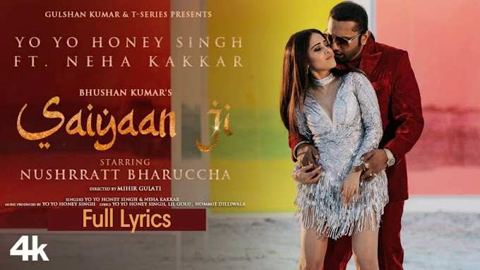 Saiyaan Ji - Yo Yo Honey Singh Song Lyrics By 8DDARK