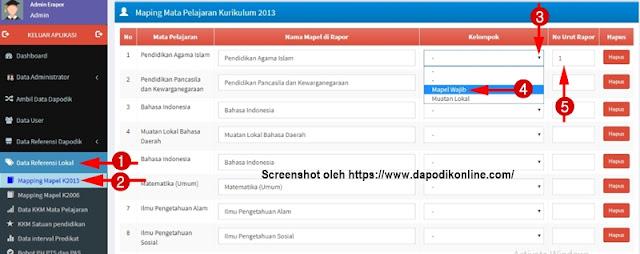 Cara Mapping Mata Pelajaran SD Kurikulum 2013 di Aplikasi e-Rapor SD