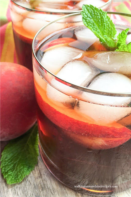 Homemade Peach Iced Tea Recipe