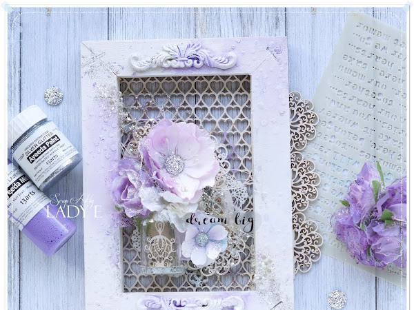 Mixed Media Frame with Lacy Background + Video Tutorial / Ramka z Ażurowym Tłem i Kurs Video