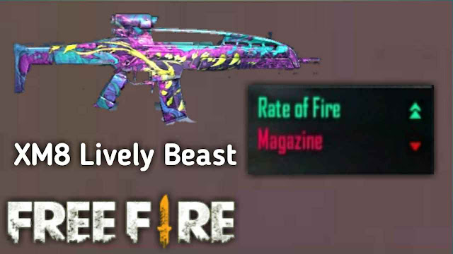 Banyak Dipakai! Inilah 8 Skin Senjata Jarak Jauh (Berpeluru AR) Paling Mematikan di Game Free Fire, xm8 lively beast
