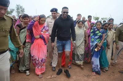 West Indies Captain Dwayn Bravo Visited in Chhatisgarh told about mitanin