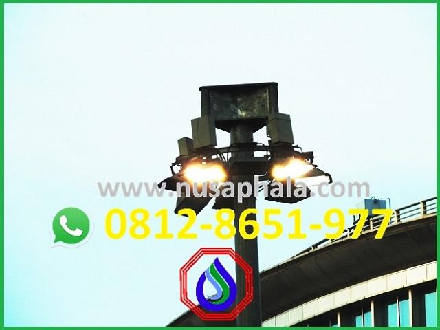 Jenis tiang lampu sorot beton