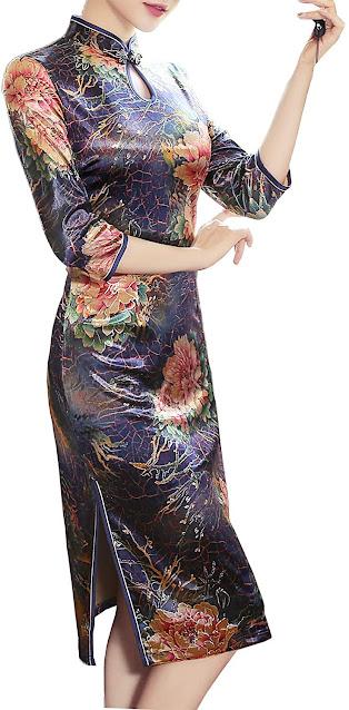 Women's Elegant Modern Cheongsam Qipao Dresses