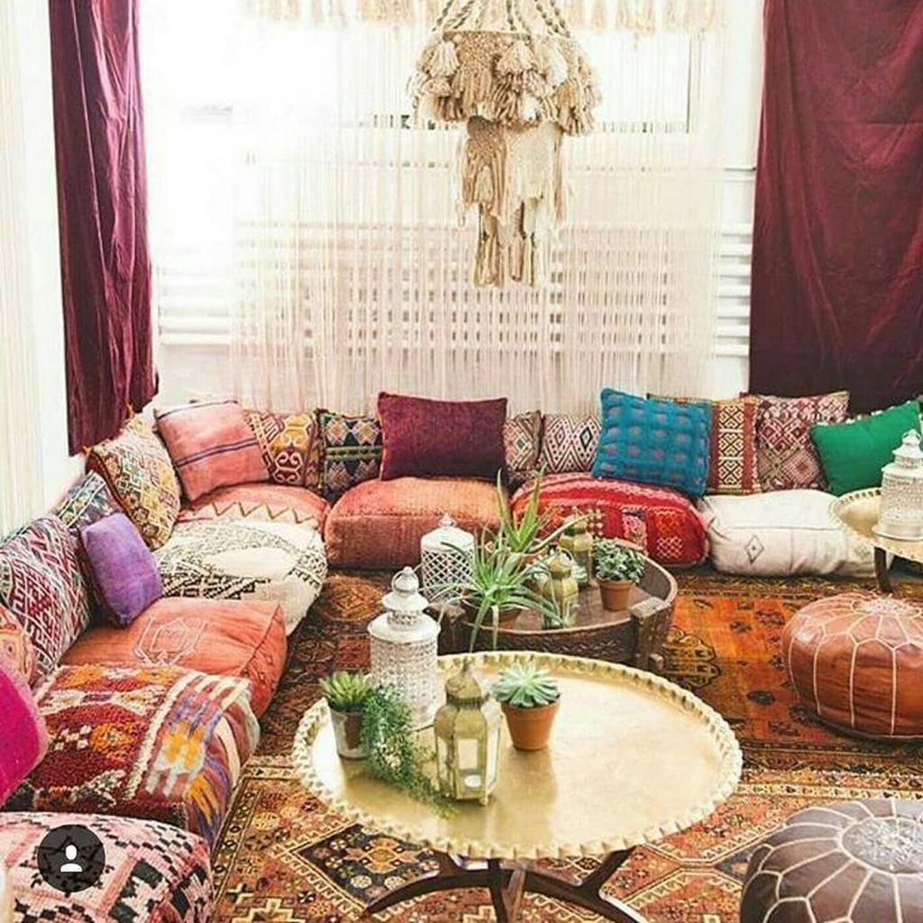 35 charming boho living room decorating ideas with gypsy