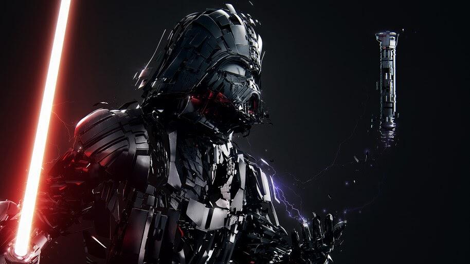 Darth Vader Lightsaber Star Wars Fantasy Sci Fi 4k Wallpaper