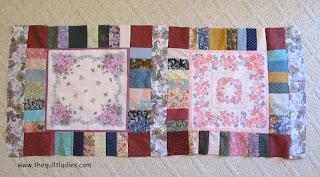 hankie quilt blocks put together