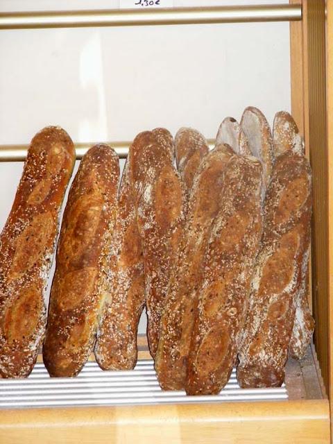 Baguettes in a boulangerie, Indre et Loire, France. Photo by Loire Valley Time Travel.