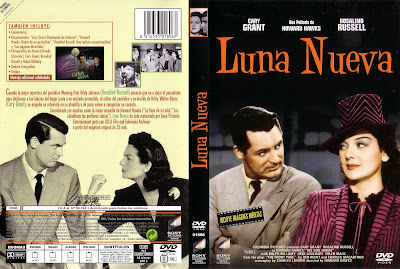 Carátula dvd: Luna Nueva (1940) His Girl Friday - DescargaCineClasico.Net