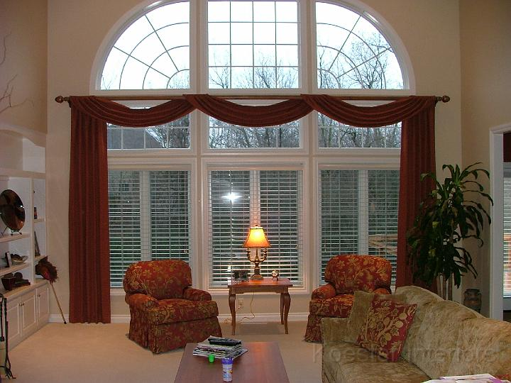 Large home window treatments - Living room picture window treatments ...