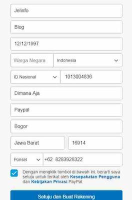 Mendaftar PayPal tanpa kartu kredit dan KTP