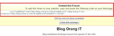 Cara Memasang Forum diBlogger4