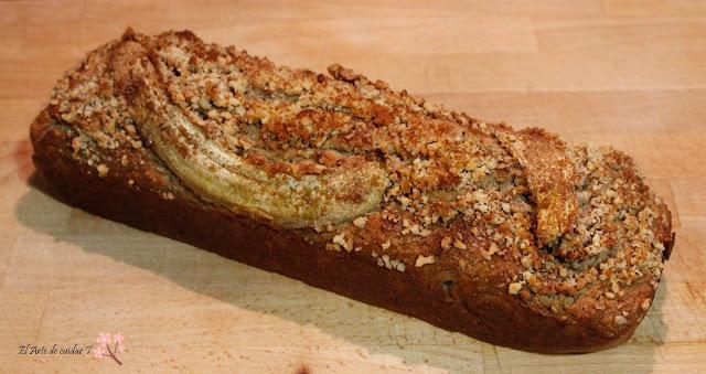 Pan de plátano y coco sin gluten sin lactosa, sin azúcar