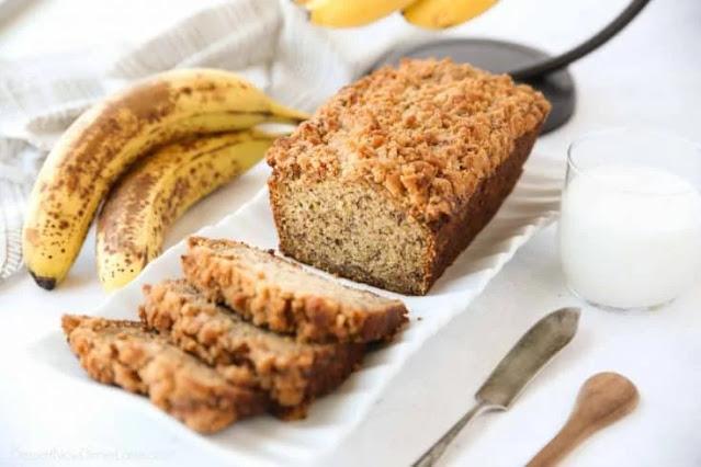 Healthy banana bread cake recipe at home