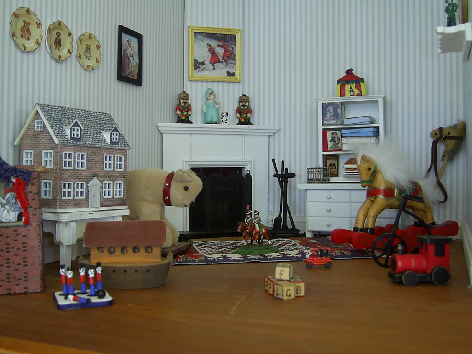 Dolls Houses And Minis Edwardian Dolls House The Nurseries - Dolls house interior