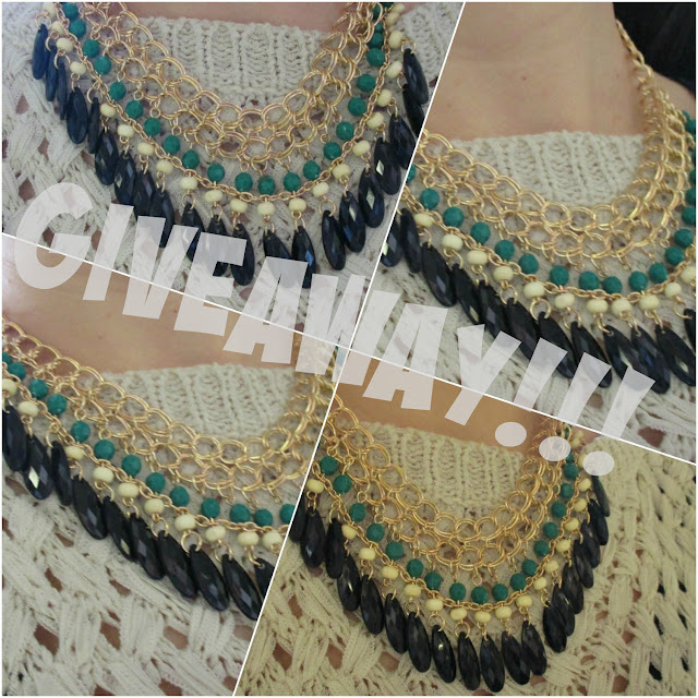 Giveaway statement necklace