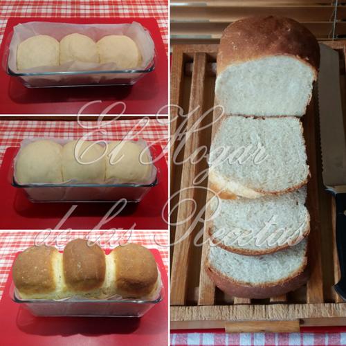 Pan de leche japonés hecho con tang zhoug o water rouge