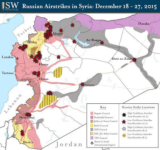Russian Airstrikes in Syria: December 18 - 27, 2015