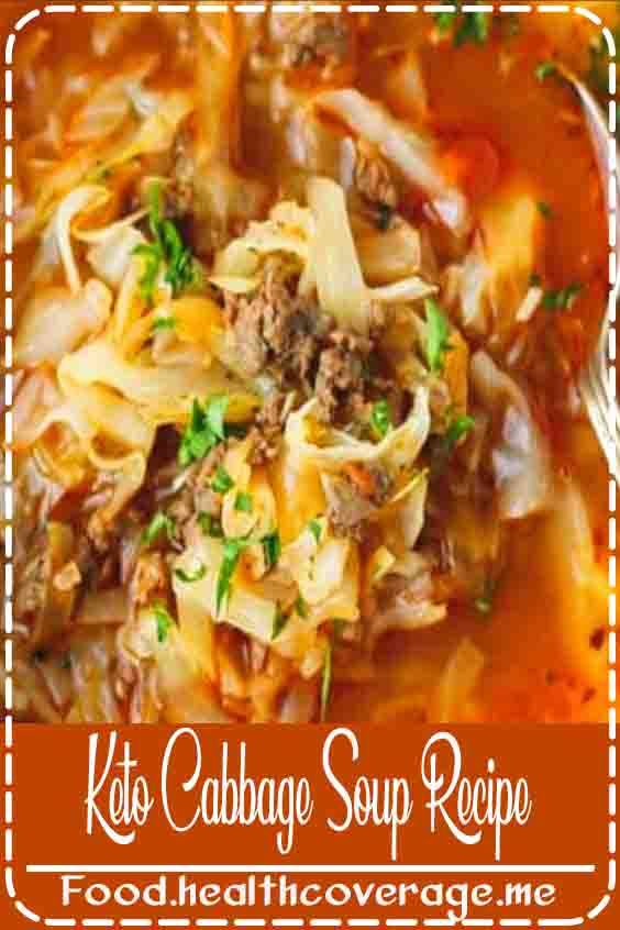 Keto Cabbage Soup Recipe - very quick and easy to make, nutritious and delicious soup made with cabbage, ground beef and tomatoes. Hearty, one pot, a family favorite, perfect for the cold weather.