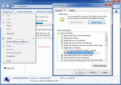 Cara mengembalikkan file yang di hidden di windows 7