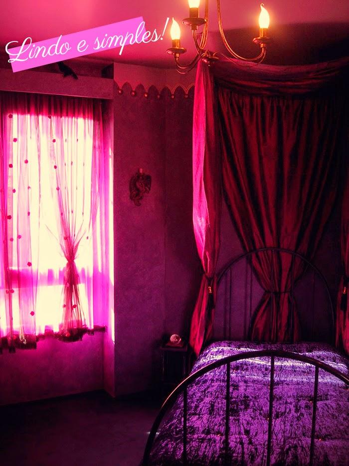 Decoração Gótica: Quarto À Moda Vitoriana Rosa e Roxo Inspirações