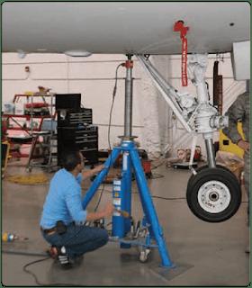 jacking a 150,000-lb Airbus A-320 airplane