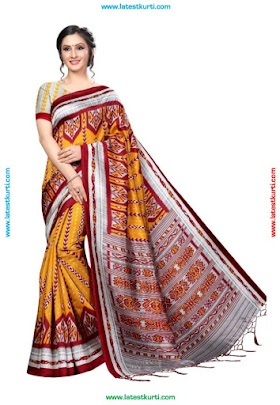 S ZARA BANARASI ART SILK LATEST SAREE