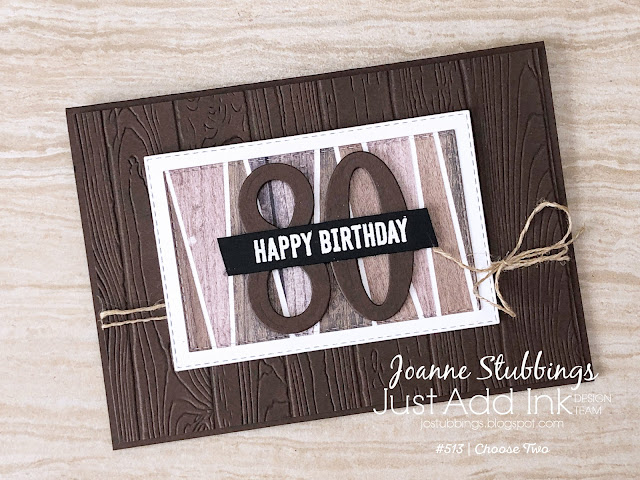 Jo's Stamping Spot - Just Add Ink Challenge #513 - Masculine card using the 'scrappy strip technique'