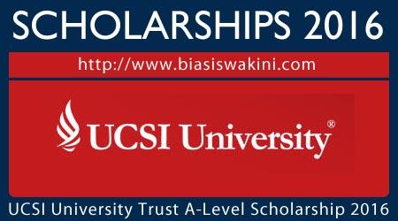 UCSI University Trust A Level Scholarship 2016