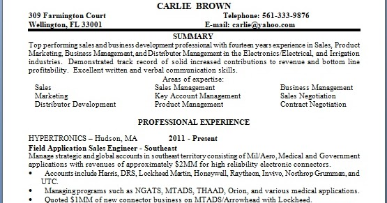 field application sales engineer sample resume format in