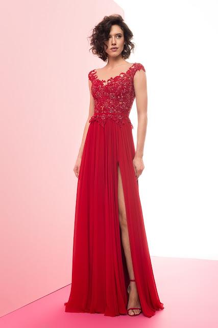 Czerwona suknia wieczorowa od Domu Mody FULARA&ŻYWCZYK