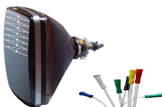 tubo catodico + catetere = tubo catetrico