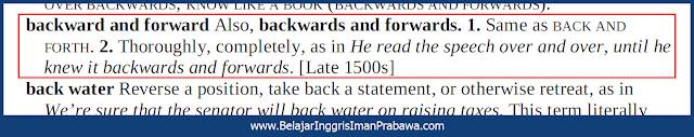 Arti Backward and Forward