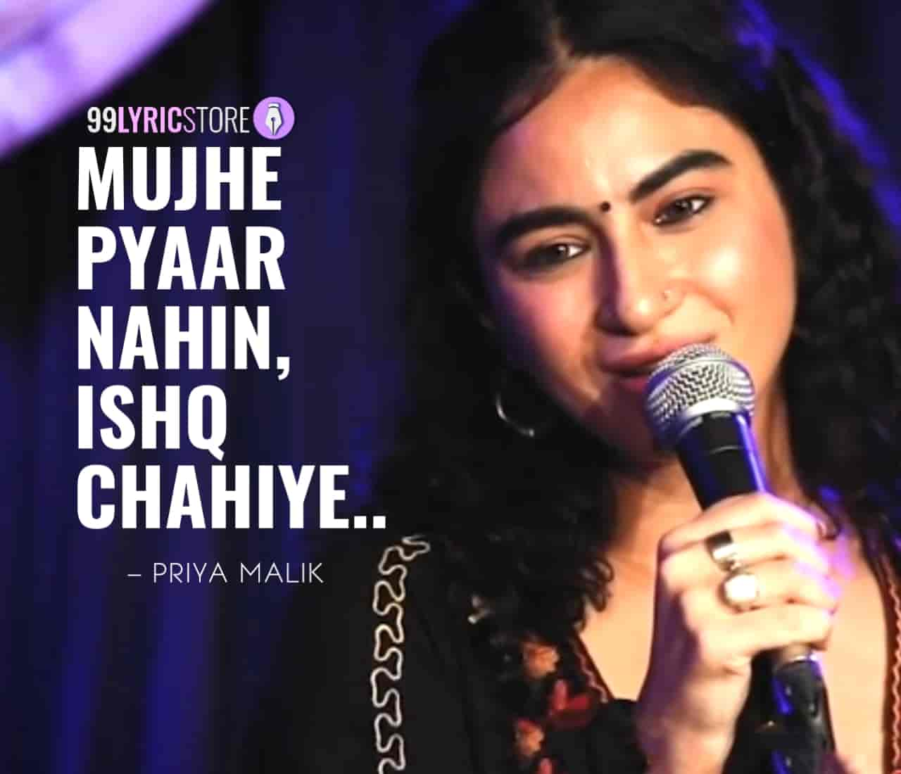 About This Poem :-  In this Valentine a beautiful poem  'Mujhe Pyaar Nahin, Ishq Chahiye' for UnErase Poetry which is presented by Priya Malik and also written by her.