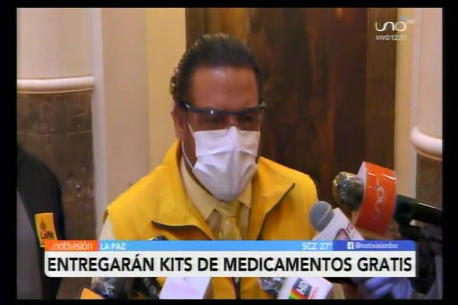 Alcaldía paceña anuncia delivery gratuito de kits de medicamentos contra el Covid-19