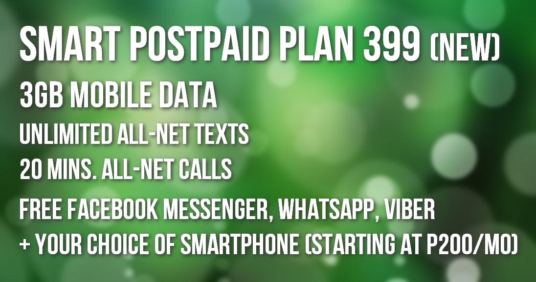 Smart Postpaid Plan 399, Smart Postpaid Plans, Smart Postpaid