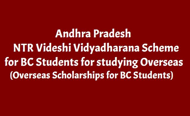 AP NTR Videshi Vidyadharana Scheme, AP BC Overseas Scholarships
