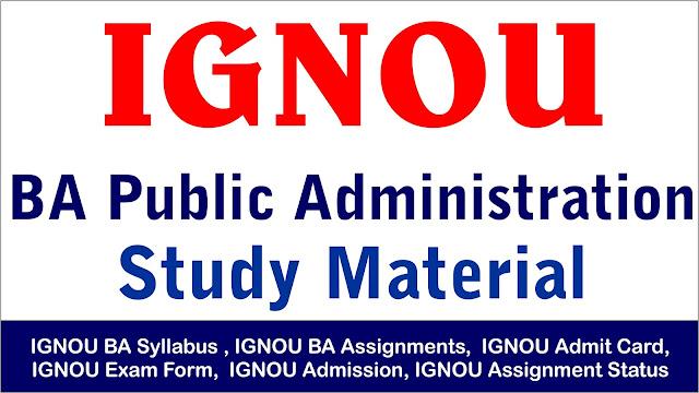 ignou ba public administration ; ignou ba study material