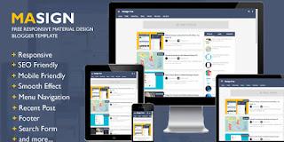 Chia sẽ Masign Template Blogspot phong cách Material Design