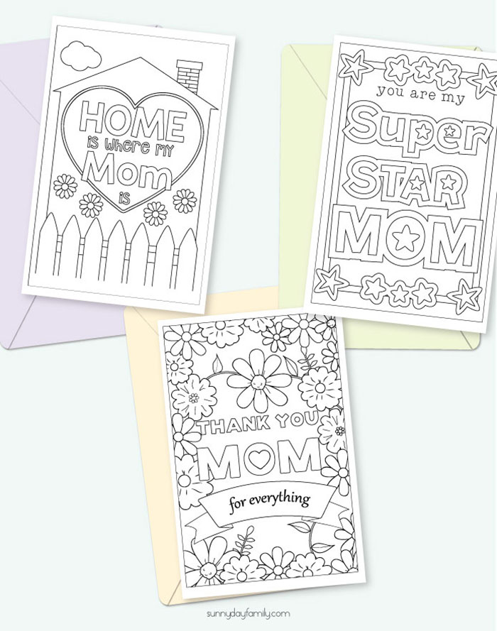 photo about Printable Mothers Day Cards to Color named Lovely Totally free Printable Moms Working day Playing cards for Small children towards Coloration