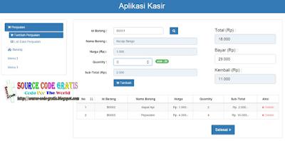 Download Gratis Source Code PHP Aplikasi Kasir Menggunakan Code Igniter