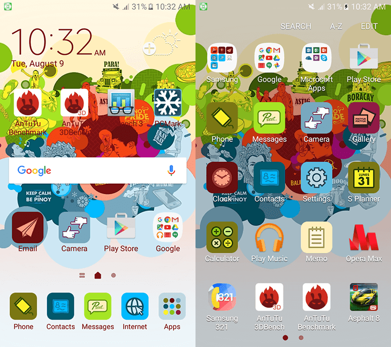 Samsung's colorful Android 6.0 Marshmallow OS with TouchWiz UI made for the Philippines